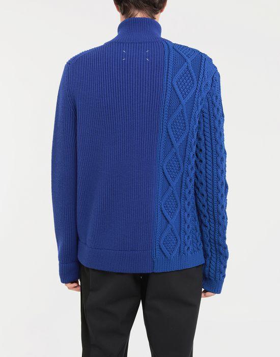 MAISON MARGIELA Spliced zip-embellished knit cardigan Cardigan [*** pickupInStoreShippingNotGuaranteed_info ***] e