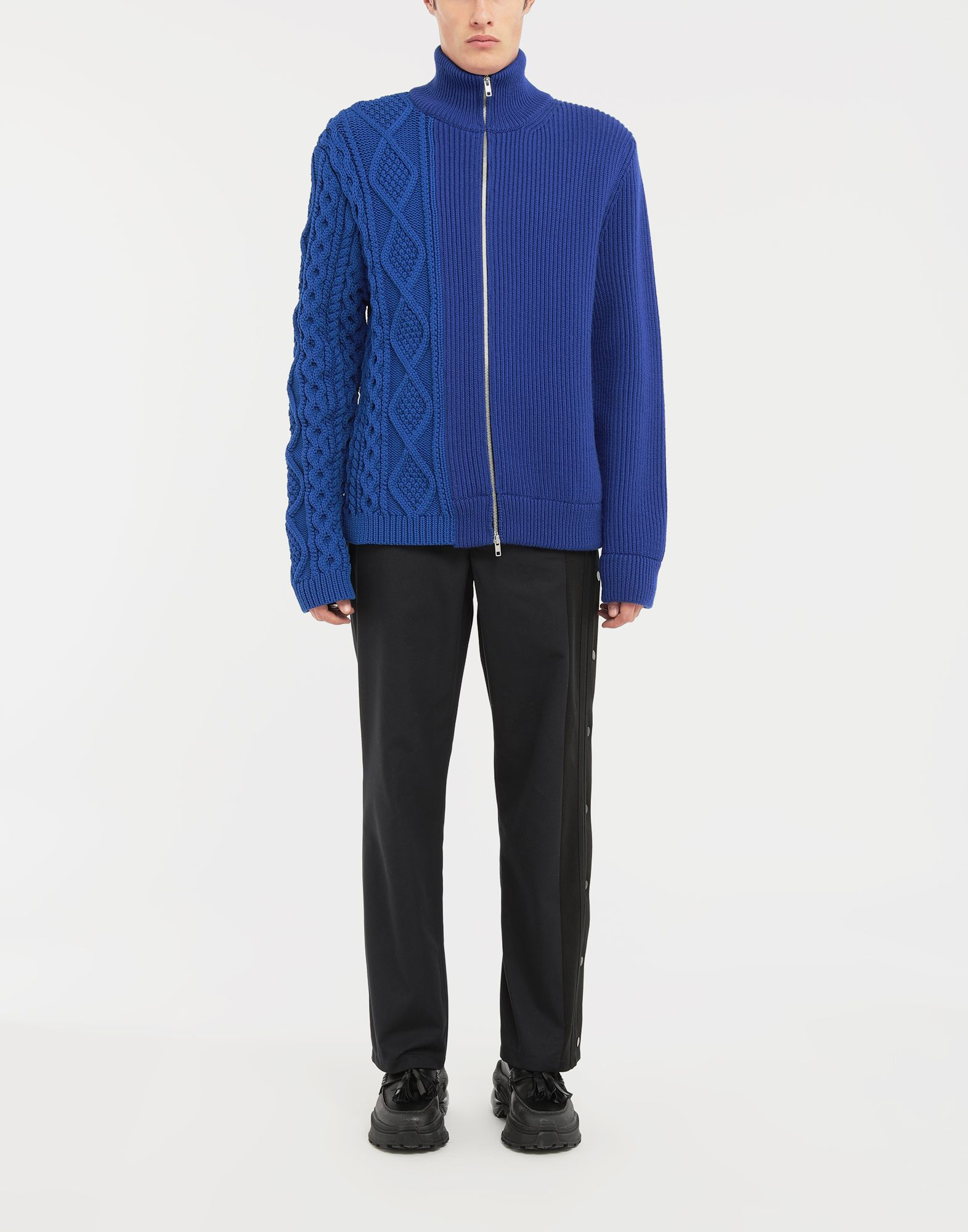 MAISON MARGIELA Spliced zip-up ribbed sweater Cardigan Man d
