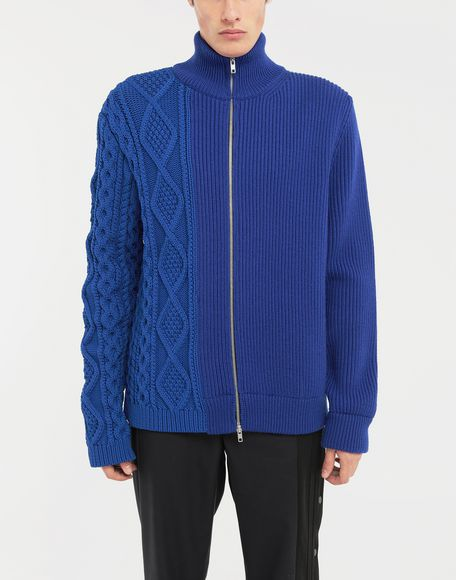 MAISON MARGIELA Spliced zip-up ribbed sweater Cardigan Man r