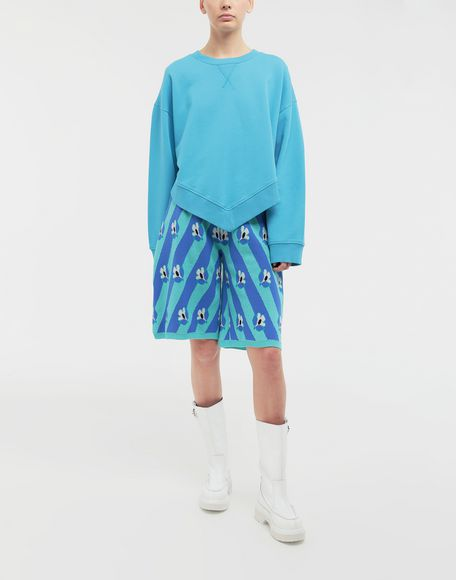 MM6 MAISON MARGIELA Oversized jersey sweatshirt Sweatshirt Woman d