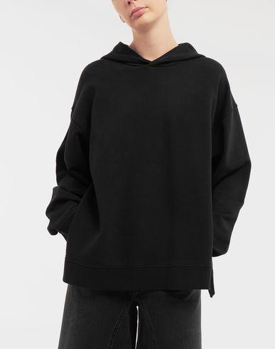 SWEATERS Logo-print hooded sweatshirt Black