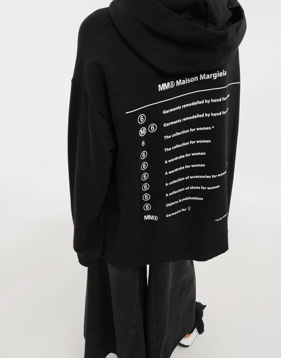 MM6 MAISON MARGIELA Logo-print hooded sweatshirt Hooded sweatshirt [*** pickupInStoreShipping_info ***] a