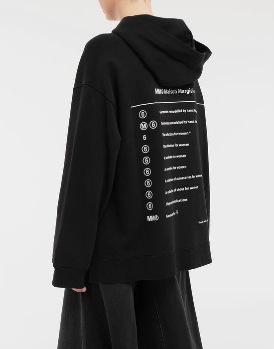 MM6 MAISON MARGIELA Logo-print hooded sweatshirt Hooded sweatshirt [*** pickupInStoreShipping_info ***] e