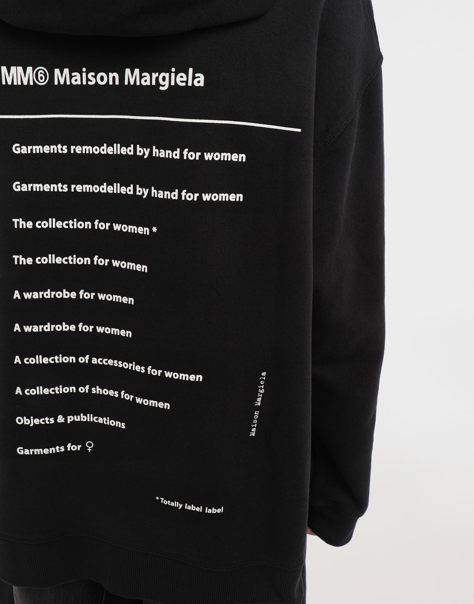 MM6 MAISON MARGIELA Logo-print hooded sweatshirt Hooded sweatshirt Woman b
