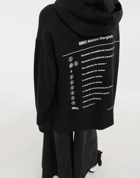 MM6 MAISON MARGIELA Logo-print hooded sweatshirt Hooded sweatshirt Woman a