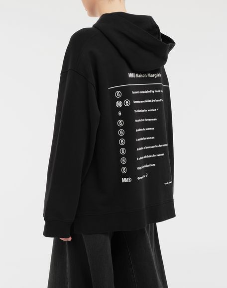 MM6 MAISON MARGIELA Logo-print hooded sweatshirt Hooded sweatshirt Woman e