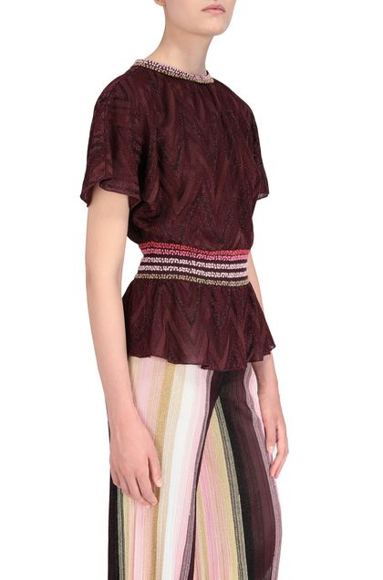 M MISSONI Blouse Maroon Woman - Front