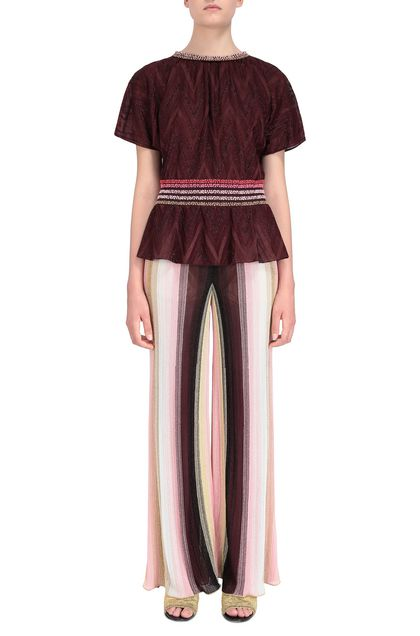 M MISSONI Blouse Maroon Woman - Back