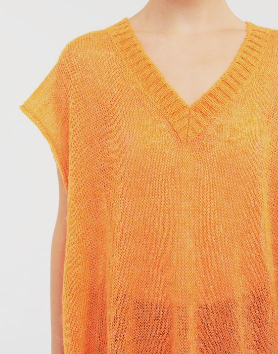 MAISON MARGIELA Dress in fluo mohair with stripes Sleeveless jumper [*** pickupInStoreShipping_info ***] a