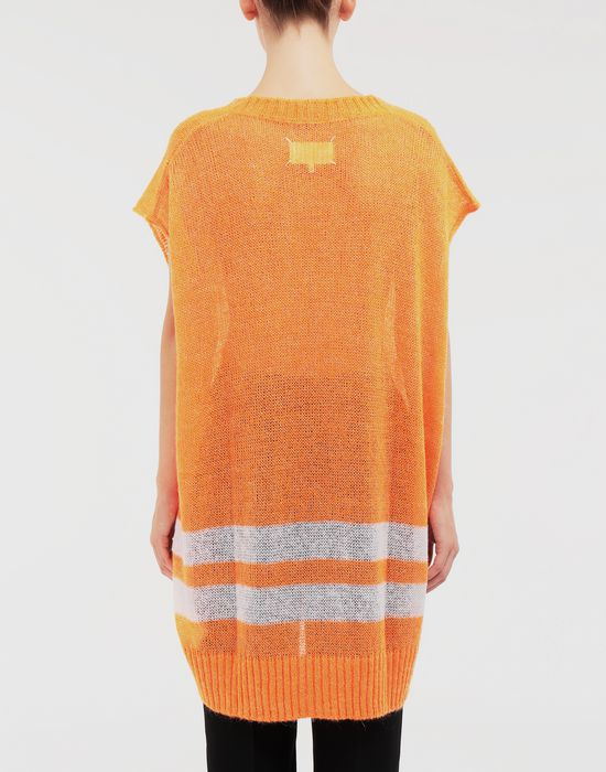MAISON MARGIELA Dress in fluo mohair with stripes Sleeveless jumper [*** pickupInStoreShipping_info ***] e