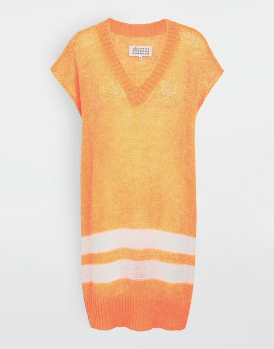 MAISON MARGIELA Dress in fluo mohair with stripes Sleeveless jumper [*** pickupInStoreShipping_info ***] f
