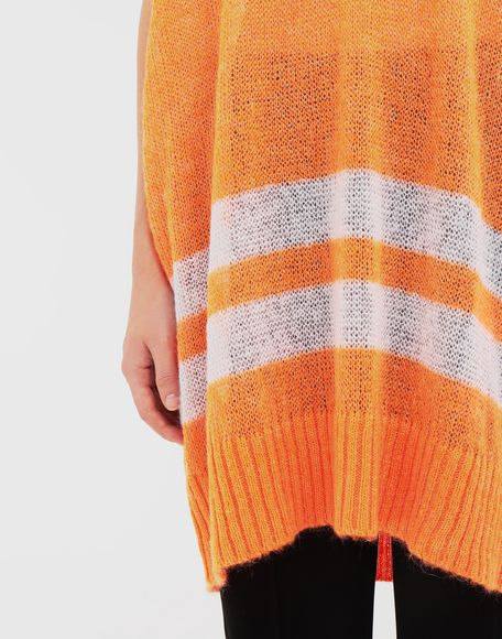 MAISON MARGIELA Dress in fluo mohair with stripes Sleeveless sweater Woman b