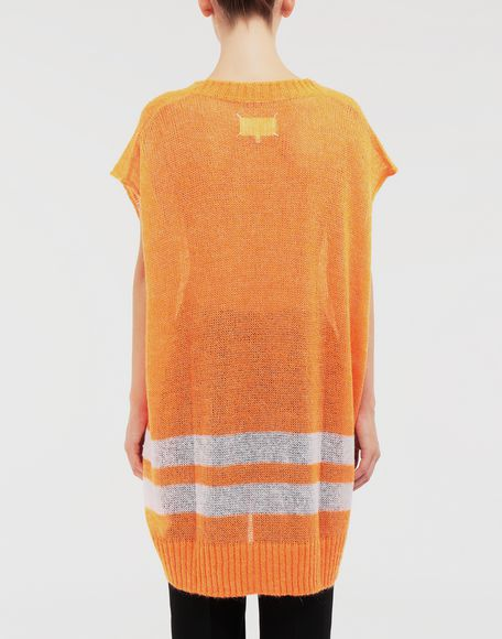 MAISON MARGIELA Dress in fluo mohair with stripes Sleeveless sweater Woman e