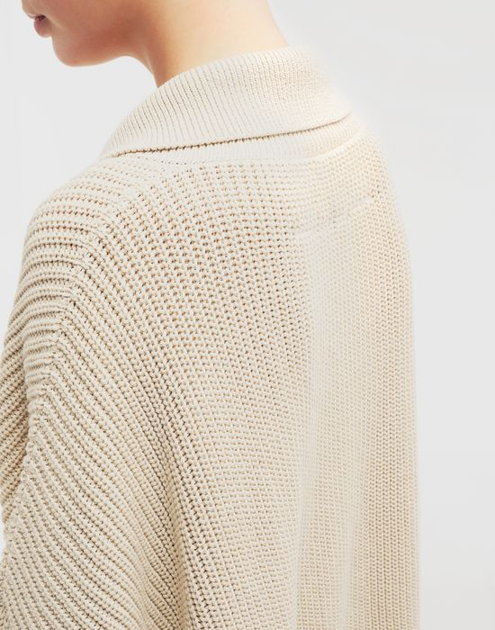MM6 MAISON MARGIELA Oversized ribbed cotton pullover Long sleeve sweater [*** pickupInStoreShipping_info ***] b