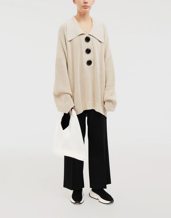 MM6 MAISON MARGIELA Oversized ribbed cotton pullover Long sleeve sweater [*** pickupInStoreShipping_info ***] d