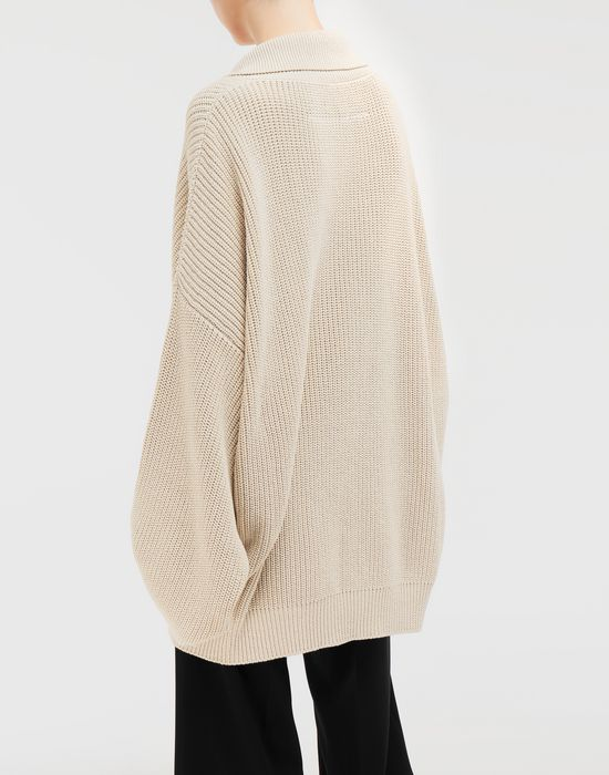MM6 MAISON MARGIELA Oversized ribbed cotton pullover Long sleeve sweater [*** pickupInStoreShipping_info ***] e