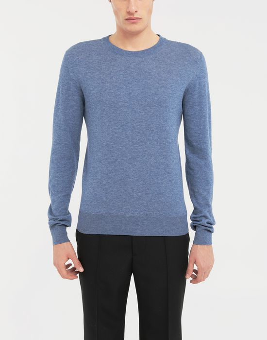 MAISON MARGIELA Décortiqué elbow patch knit pullover Long sleeve sweater [*** pickupInStoreShippingNotGuaranteed_info ***] r