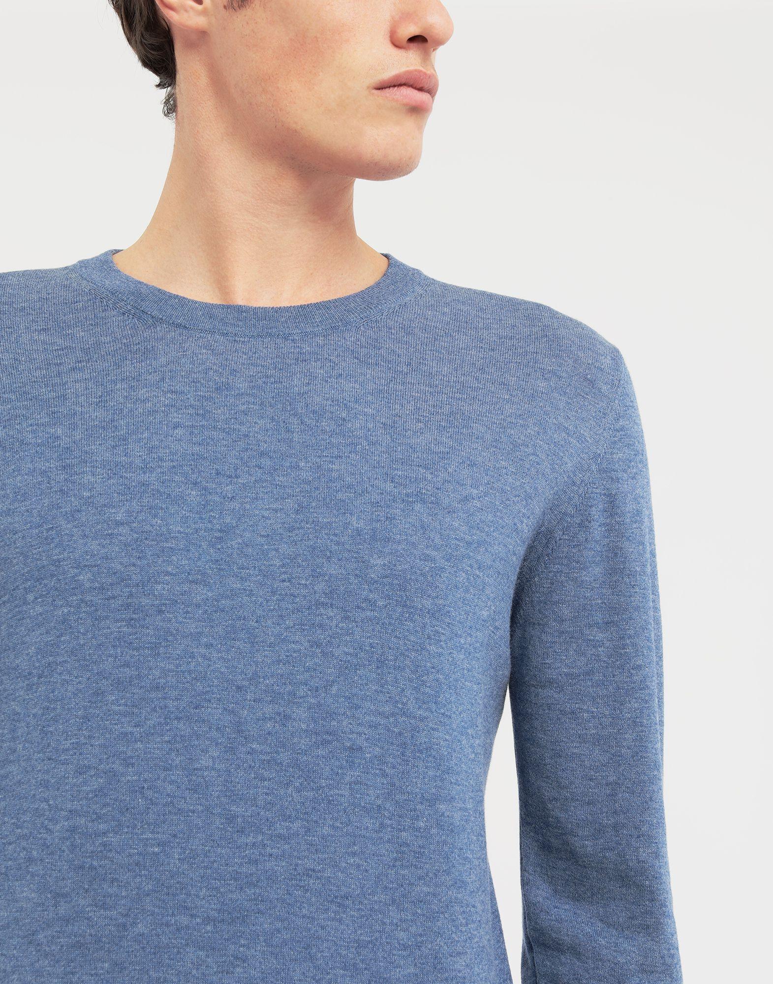 MAISON MARGIELA Décortiqué elbow patch knit pullover Long sleeve sweater Man a