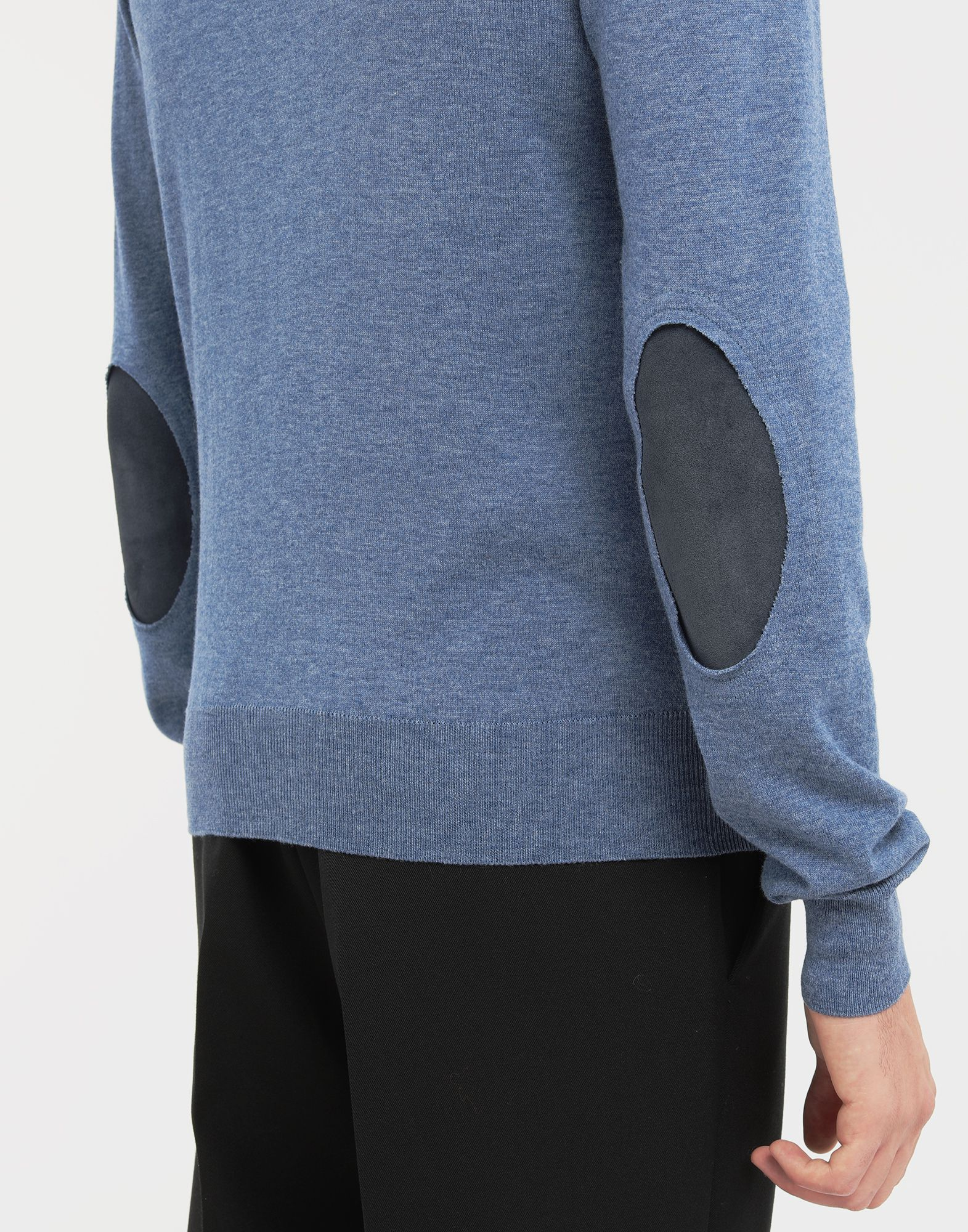 MAISON MARGIELA Décortiqué elbow patch knit pullover Long sleeve sweater Man b
