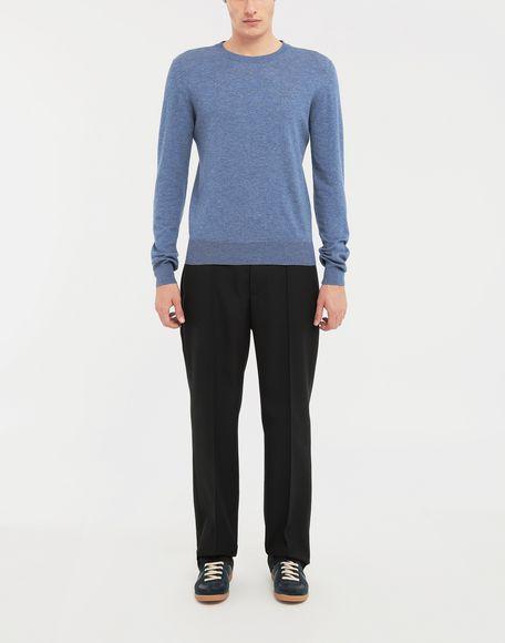 MAISON MARGIELA Décortiqué elbow patch knit pullover Long sleeve sweater Man d