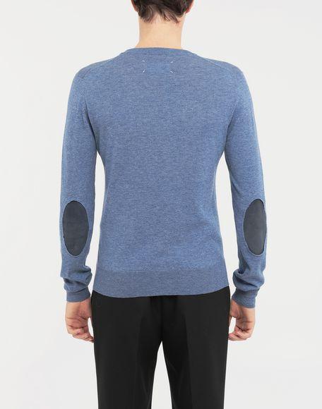 MAISON MARGIELA Décortiqué elbow patch knit pullover Long sleeve sweater Man e