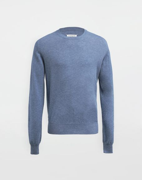 MAISON MARGIELA Décortiqué elbow patch knit pullover Long sleeve sweater Man f