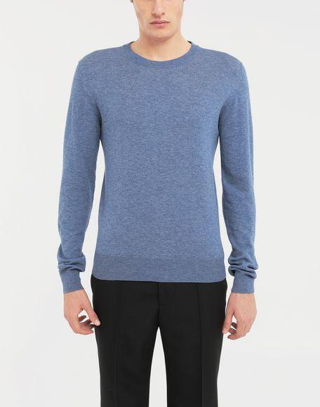 MAISON MARGIELA Décortiqué elbow patch knit pullover Long sleeve sweater Man r