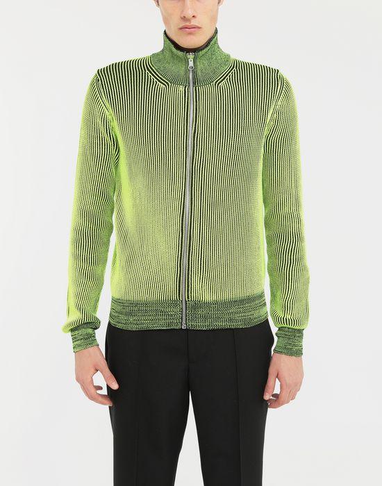 MAISON MARGIELA Zip-embellished knit cardigan pullover Cardigan [*** pickupInStoreShippingNotGuaranteed_info ***] r