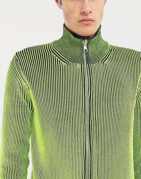 MAISON MARGIELA Zip-embellished knit cardigan pullover Cardigan Man a