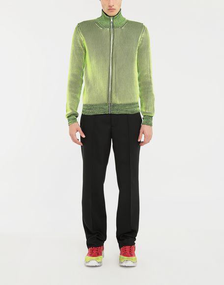 MAISON MARGIELA Zip-embellished knit cardigan pullover Cardigan Man d