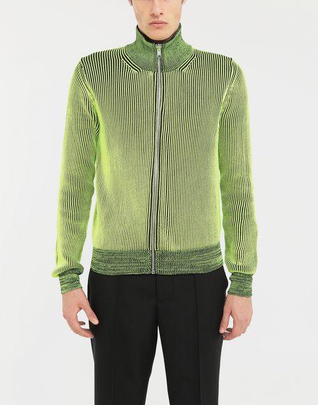 MAISON MARGIELA Zip-embellished knit cardigan pullover Cardigan Man r