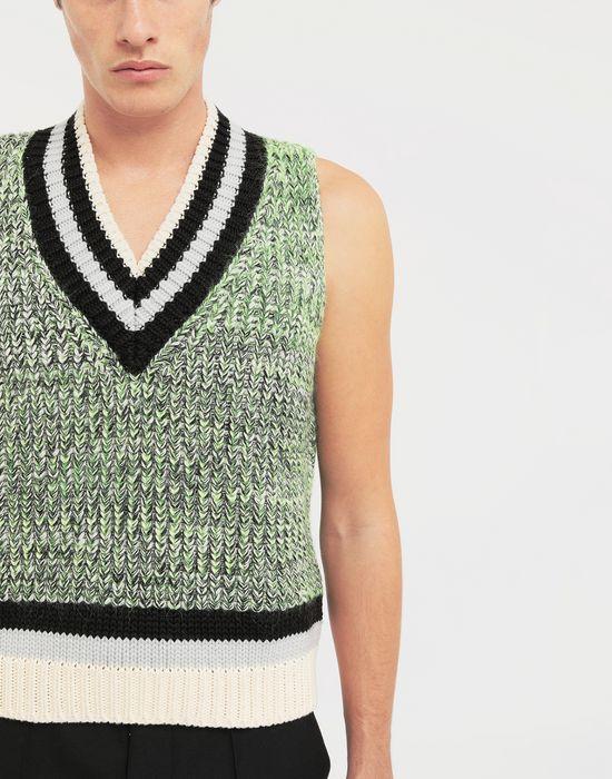 MAISON MARGIELA Sleeveless wide knit pullover V-neck [*** pickupInStoreShippingNotGuaranteed_info ***] a