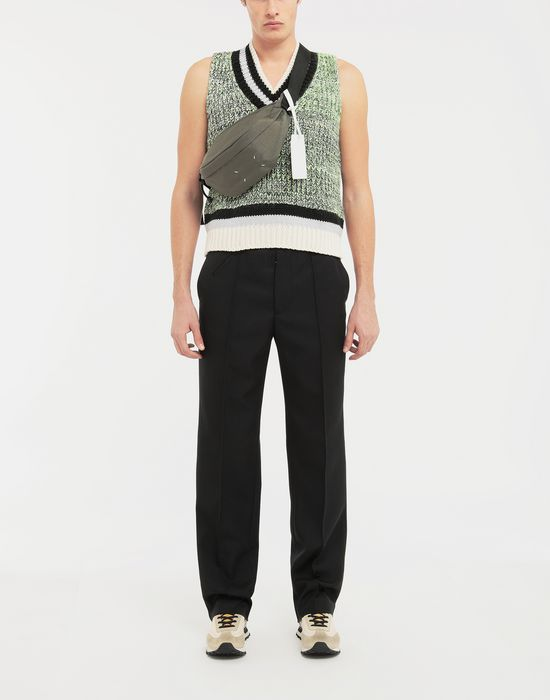 MAISON MARGIELA Sleeveless wide knit pullover V-neck [*** pickupInStoreShippingNotGuaranteed_info ***] d