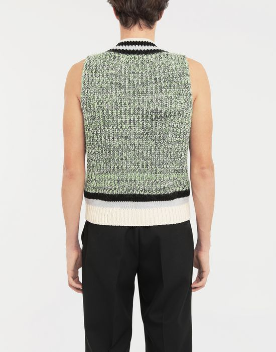 MAISON MARGIELA Sleeveless wide knit pullover V-neck [*** pickupInStoreShippingNotGuaranteed_info ***] e