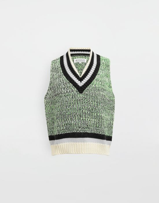 MAISON MARGIELA Sleeveless wide knit pullover V-neck [*** pickupInStoreShippingNotGuaranteed_info ***] f