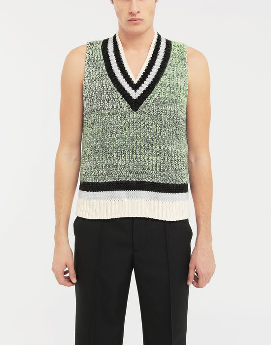 MAISON MARGIELA Sleeveless wide knit pullover V-neck [*** pickupInStoreShippingNotGuaranteed_info ***] r
