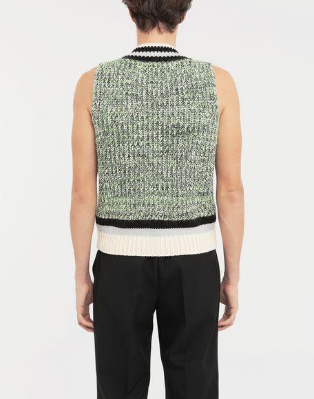 MAISON MARGIELA Sleeveless wide knit pullover V-neck sweater Man e