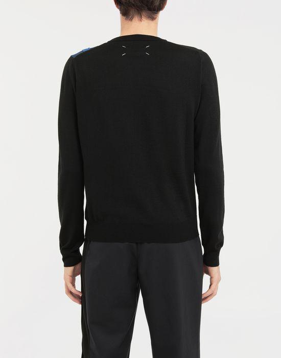 MAISON MARGIELA Spliced wool knit pullover Long sleeve sweater [*** pickupInStoreShippingNotGuaranteed_info ***] e