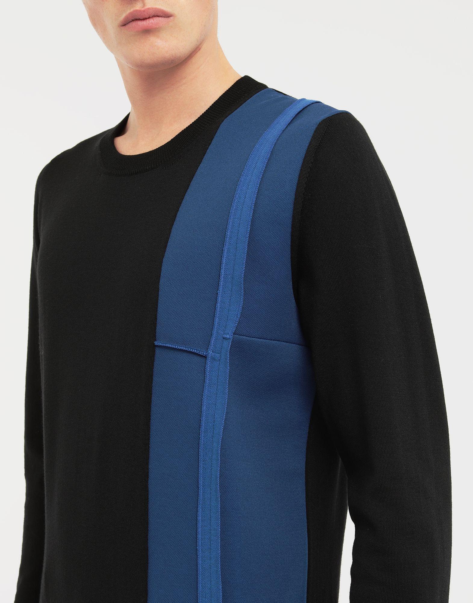 MAISON MARGIELA Spliced wool knit pullover Long sleeve sweater Man a