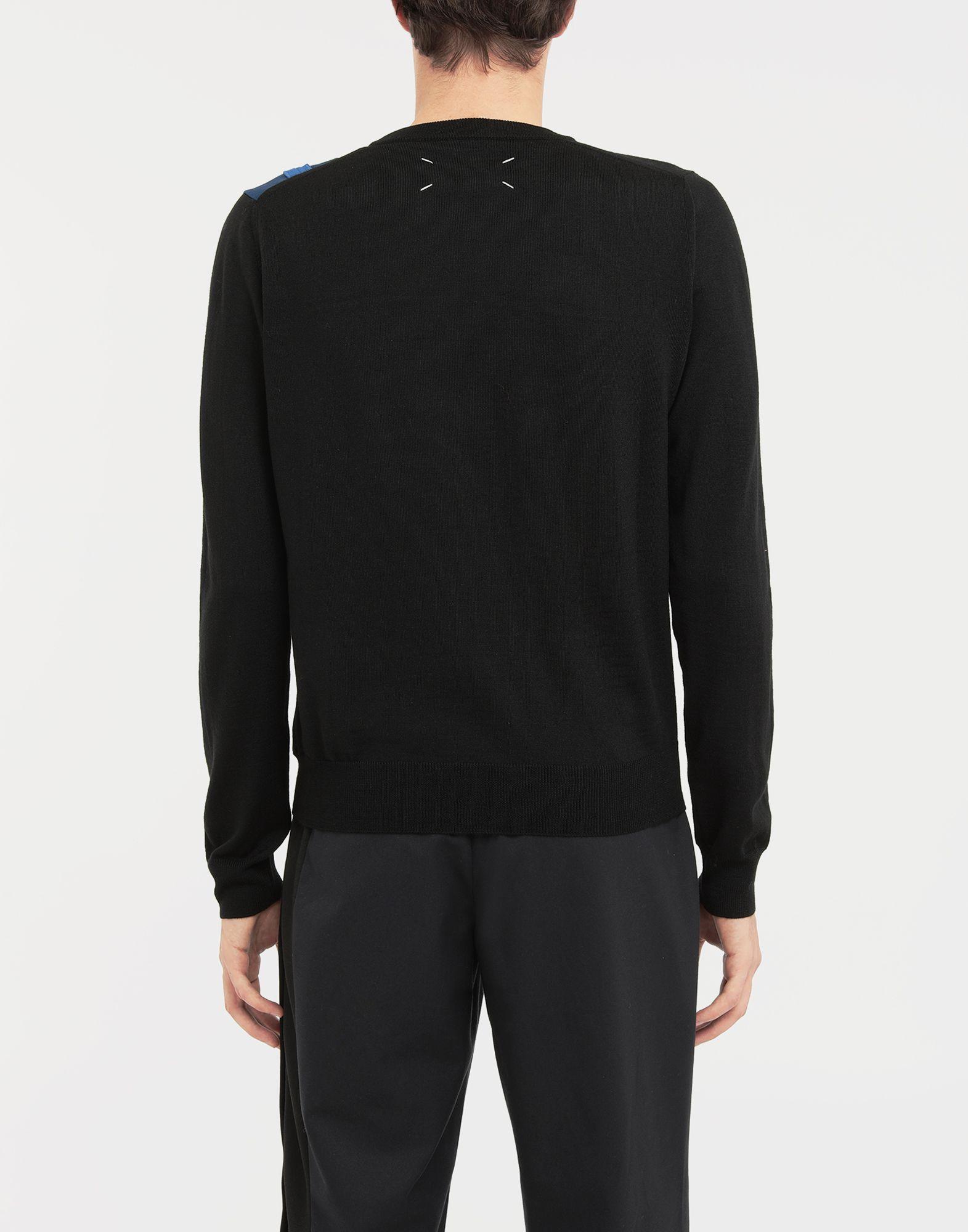 MAISON MARGIELA Spliced wool knit pullover Long sleeve sweater Man e