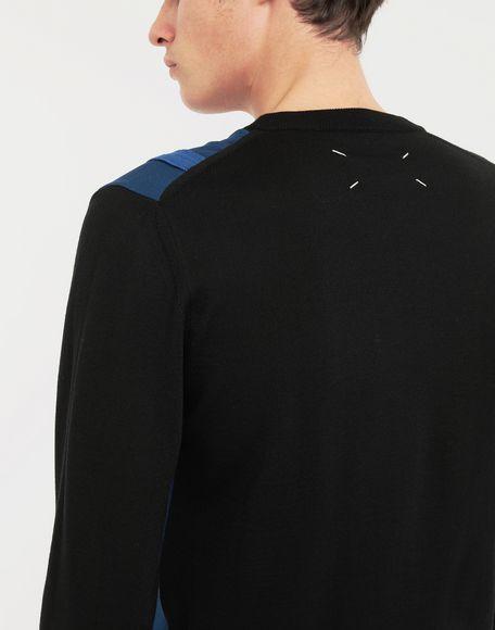 MAISON MARGIELA Spliced wool knit pullover Long sleeve sweater Man b