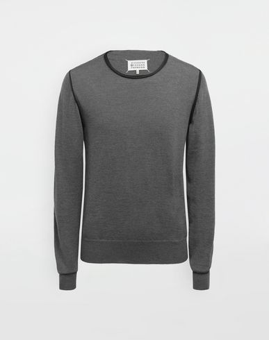 MAISON MARGIELA Long sleeve sweater [*** pickupInStoreShippingNotGuaranteed_info ***] Cotton-trimmed knit jersey pullover f