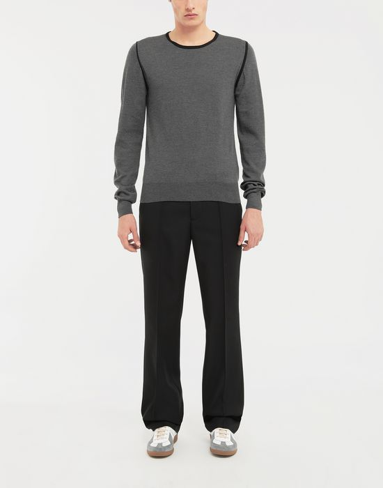 MAISON MARGIELA Cotton-trimmed knit jersey pullover Long sleeve sweater [*** pickupInStoreShippingNotGuaranteed_info ***] d