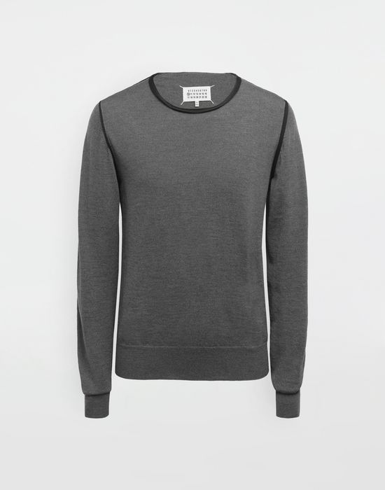 MAISON MARGIELA Cotton-trimmed knit jersey pullover Long sleeve sweater [*** pickupInStoreShippingNotGuaranteed_info ***] f