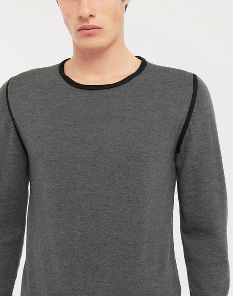 MAISON MARGIELA Cotton-trimmed knit jersey pullover Long sleeve jumper Man a