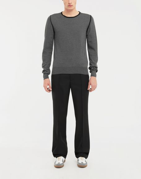 MAISON MARGIELA Cotton-trimmed knit jersey pullover Long sleeve jumper Man d
