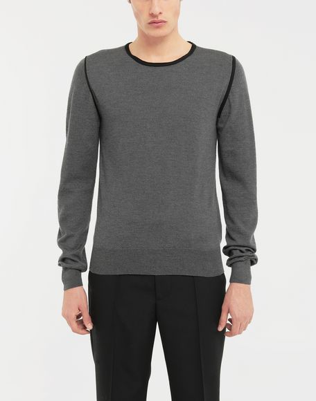 MAISON MARGIELA Cotton-trimmed knit jersey pullover Long sleeve jumper Man r