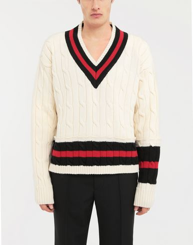 SWEATERS Oversized Décortiqué wool knit pullover