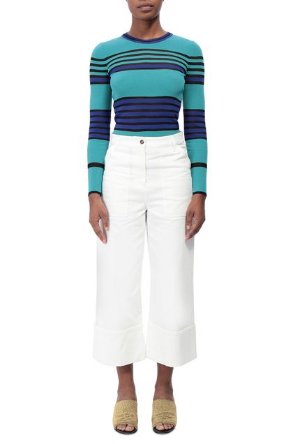 M MISSONI Jumper Turquoise Woman - Back