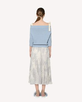 REDValentino Off-the-shoulder cropped wool jumper